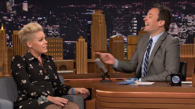 P!nk shares UNICEF Kid Power on The Tonight Show with Jimmy Fallon